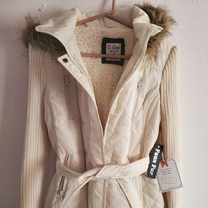 Ci Sono faux fur Jacket brand new size large